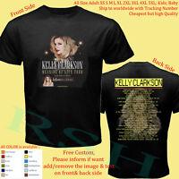 KELLY CLARKSON TOUR 2019 Concert Album T-Shirt Adult S-5XL Youth Infants