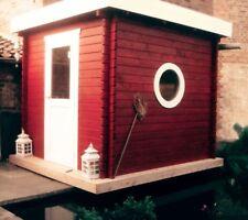 Agande Saunahaus Blockbohlensauna Sauna Gartensauna Aussensauna, 45mm 45392