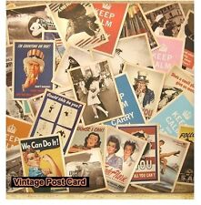 Pcs Vintage Retro Old World War Army Postcards Cards Posters Art Deco