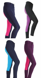 Shires Wessex Two Tone Horse Riding Jodhpurs  - Maids / Childs/ Girls