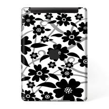 Skins Decal Wrap for Apple iPad 9.7 2017-Black white Flower Print