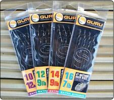"GURU SIZE 10 BARBLESS 4"" METHOD FEEDER HAIR RIGS x 8 FOR COARSE FISHING"