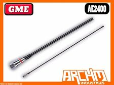 GME AE2400 600 MM WHIP PRE-TUNED BLACK FIBREGLASS MOBILE ANTENNA 27 MHZ