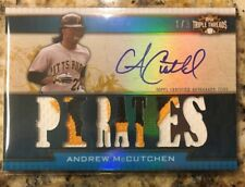 2011 Topps Triple Threads Andrew McCutchen Auto 3 Color Patch 1/3 1/1 PIRATES?!!