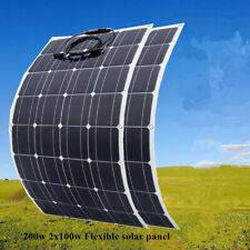 2pcs 100W Solar Panel flexible Solar Cell 12V Battery Charger for Boat Roof Home