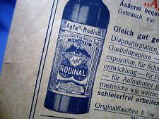 AGFA PROSPEKT um 1920 ENTWICKLER RODINAL METOL PLANFILM PLATTEN ISOLAR BLITZ