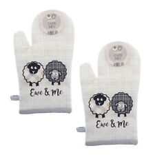 Country Club Ewe and Me Oven Mitt Set of 2 Glove Pot Holder Heat Protection Cute