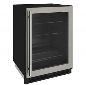 "U-Line U1224RGLS-00A 24"" Under Counter Compact Refrigerator Glass Door - NIB"