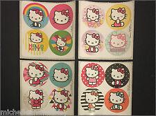 Hello Kitty Mini Dot Stickers x 8 sheets - 32 dots - Hello Kitty Stickers Party