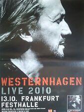 WESTERNHAGEN   2010  FRANKFURT    orig. Concert - Konzert - Poster
