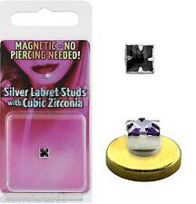 4mm FAKE Nose Labret Monroe Stud Body Jewellery  BLACK