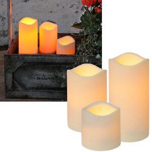LED Kerze für Außen mit TIMER flackernde Kerzen flackernd Outdoor Garten Balkon