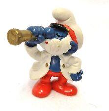 1981 Papa Smurf Sea Captain Telescope Schleich Peyo Hong Kong Collector Vintage