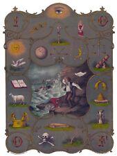 Antique Odd Fellows Degree Chart art print ring IOOF I.O.O.F. 12x18 oddfellows