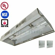 7 Ft Restaurant Commercial Kitchen Grease Exhaust Hood Make Up Air Supply Air