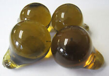 4 - Antique Czech Glass Fruit Amber Pears from Fruit Chandelier
