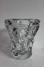 Beau vase cristal de Vannes-le-Chatel design Vintage 1950 era Daum Nancy Thuret