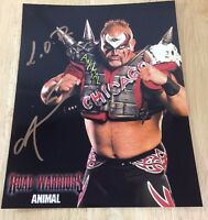 Road Warrior Animal Lod Signed 8x10 Picture Wwf Wcw Wwe Jsa Certified
