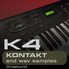 KAWAI K4 SAMPLES for KONTAKT 300+ NKI 2456 WAV 24BIT MAC PC MPC LOGIC PRO TOOLS