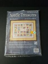NIP NEEDLE TREASURES 16X12 BLESS THIS  HOUSE STAMPED CROSS STITCH KIT