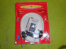 WALK SAFE Portable Walkman AM/FM Radio + Headphones & Alarm