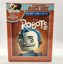 BRAND NEW, Blue Sky Studios ROBOTS Exclusive Blu Ray Gift Set with Bonus Sox!