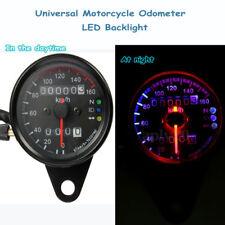 12v Moto Velocímetro Cuentakilómetros  LED Universal Dual Odometer Backlight