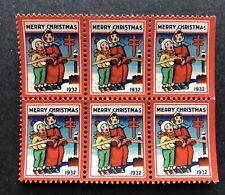 1932 Block of six Christmas Seals