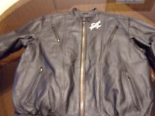 Riders Club Of America Black Leather Motor Cycle Racing Jacket Large L