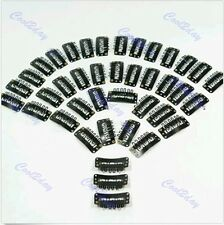 Black U Shape Snap Metal Clips for Hair Extensions Weft Clip-on Wig 40 PCS