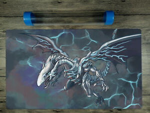 YuGiOh Blue-Eyes Alternative White Dragon Trading Card Game Playmat FreeBestTube
