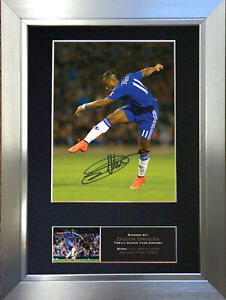 DIDIER DROGBA No2 Chelsea Football Signed Autograph Mounted Photo Re-Print 550