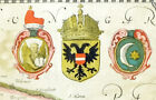 1641 - CROATIA BOSNIA ESCLAVONIA Map  Hand coloured with passepartout