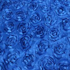Rosette 3D pattern Taffeta Flower Fabric wedding carpet stage background BY YARD