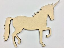 One (1) x 24cm MDF Wood Unicorn Craft 3mm MDF Ready To Prime and Paint