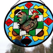 Joan Baker Designs Hanging Glass Suncatcher Rooster with cardinal points NSWE