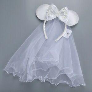 Minnie Mouse Wedding Veil Ears Bride Headband Disney NEW