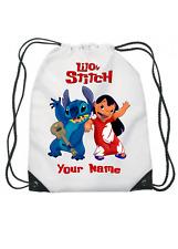 Lilo and Stitch Personalised Kids  Drawstring Bag - School Swimming & More