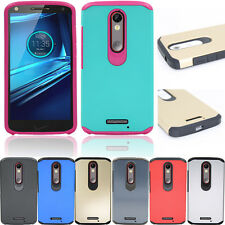 For Motorola Moto X Force Droid Turbo 2 Hybrid Case Hard Shockproof Rubber Cover