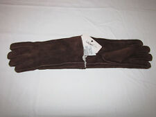 Vintage Ladies Size M - Driving Gloves - cowhide seude leather - Brand New
