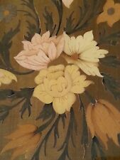 Vintage Italian marquetry wood inlay picture Flowers, 18 inches