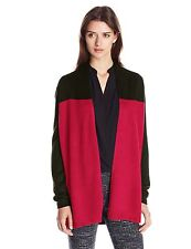Knits by Hampshire Women's Long-Sleeve Color-Block Cardigan Sweater