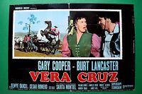 T04 Fotobusta Vera Cruz Gary Cooper Burt Lancaster Sarita Montiel CESAR Romero 4