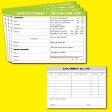 Massage Client Record Card Salon Massage Consultation Cards A6 - 50 Pack