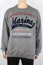 Marina Del Rey Herren Shirt Sweatshirt grau Bestickt 60%Cotton Gr 64 66 NEU A39