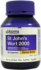 Blooms St Johns Wort Hypericum 60 Capsules Stress Anxiety Relief - Better Sleep
