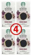 STARBUCKS Via Instant French Roast Dark Roast Coffee Packets (24 packets)