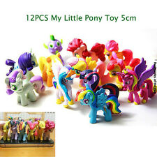 12pcs 5CM Bunte My Little Pony Puppe Princess Sammeln Action Mini-Figuren
