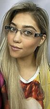 New GUCCI GG 4245 1EK Semi-Rimless 54mm Rx Women's Eyeglasses Frame Italy