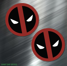 (2) TWO Deadpool Vinyl Decal Sticker For Car Laptop Skateboard NEW Dead Pool